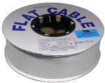 "Grey jacket 28 AWG stranded .050"" ribbon cable - 100' spool"