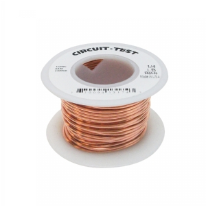 Bare Copper Bus Bar Wire, 30AWG, 1/4 lb Roll