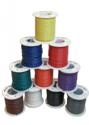 Hookup Wire - 22AWG, Solid, Violet, 100ft