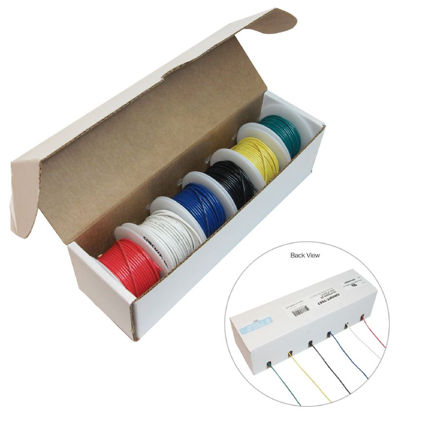 Hookup Wire Kit, Assorted - 6 Colours, 22AWG, Solid | Active Tech ...
