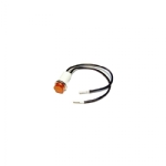 "2V .50"" LED Lamp with 6"" Leads Cylinder Diamond Lens - Amber"
