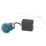 Rocker Switch, Lighted, SPST ON-OFF, 16A, 125VAC, 20mm Hole, Blue Light