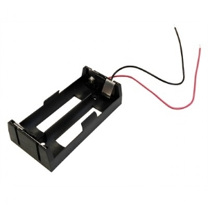 Battery Holder - 18650, 2 Cells, Wire Leads