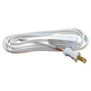 2 Conductor Extension Cord - 2m, White