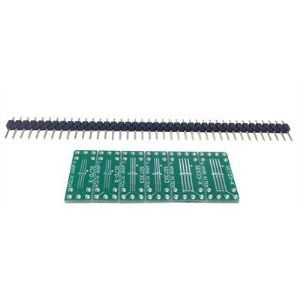SchmartBoard EZ Breakout Board Set - SOIC (0.95/0.65mm) to DIP Adapters, 6/Pkg