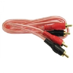 2 x RCA Plugs to 2 x RCA Plugs - Deluxe Gold, 12ft
