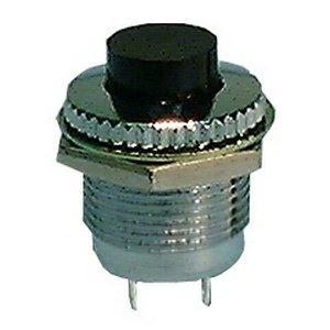 push button switch, spst 1a @125v, off (on) active tech  push button switch, spst 1a @125v, off (on)
