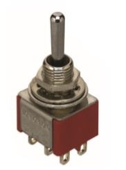 Switch Toggle DPDT 5A On-On-On Bat