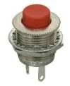 Switch Push Button SPST On (Off) Round Red