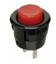 Switch Push Button Off (On) SPST Round Button 3A