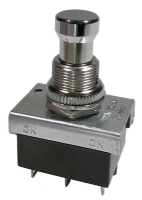Push Button Switch - DPDT ON-ON Alternate Action, 6A @ 250V
