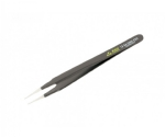 ESD Safe Tweezers 13 Sa  Micro Tip For Chips Angled 120mm