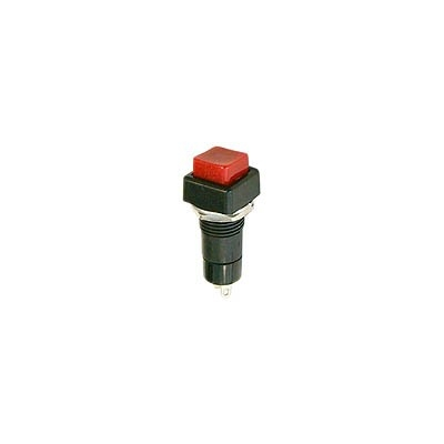 push button switch spst 3a on off, red square cap active tech  push button switch spst 3a on off, red square cap