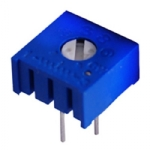 "Potentiometer - 3/8"" Square Trimmer, 0.5 Watt, 1K Ohm, 10%, Pkg/2"