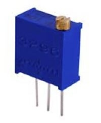 "Potentiometer - 3/8"" Square Trimmer,  Multiturn, 0.5 Watt, 5K Ohm, 10%, Pkg/2"