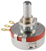 Potentiometer 2 Watt, 100 Ohm, 1/4 in diameter shaft, Carbon 10%