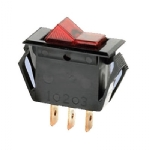 Rocker Switch, Illuminated, SPST, ON-OFF, Red, 15A