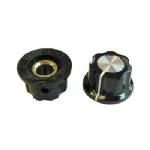 Knob with Flange, 27mm, Pkg/2