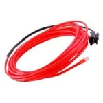 EL Wire 2.3mm, 3m Length - Red