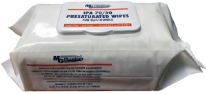 Presaturated Wipes for Electronics, IPA 70/30, 175 wipes