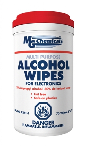 Wipes 70/30 Alcohol Blend, 75 wipes