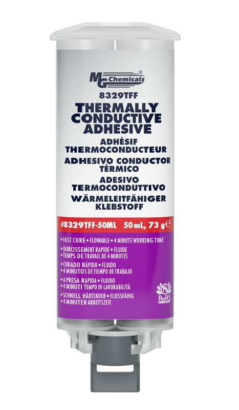 Thermal Conductive Adhesive, Fast Cure, 50mL | Active Tech