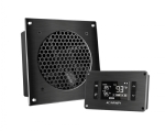AV Cabinet Cooling Fan System with LCD Thermal controller, 1 fan, 6""