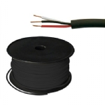 3 Conductor 22 AWG, No Shield, Black, 300ft Roll