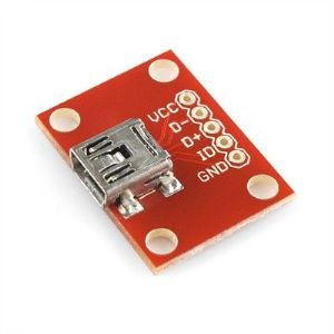 USB 'mini-B' Female Breakout Board