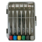 Mini Screwdriver Set - 3 Phillips / 3 Slotted