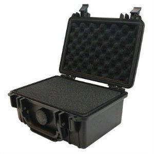 "Protective Case 1100 with foam, 8.3 x 6.6 x 3.5"", Black"