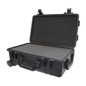 "Protective Case 1800 with foam, 21.0 x 14.0 x 8.8"", Black, with Wheels"