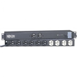 Rack Mount Surge Protector Power Bar, 12 Outlets (2 front / 10 rear), 15ft cord