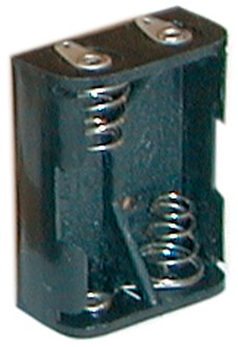 N Battery Cell Holder - 2 Cells, Solder Terminals