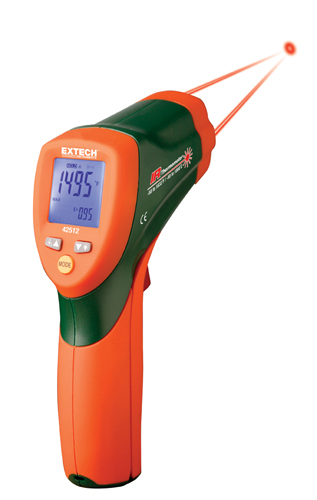 Dual Laser InfraRed Thermometer w/NIST