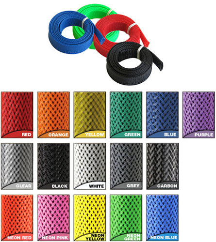 "Braided Wrap Sleeving 3/4"" Carbon, 5ft"