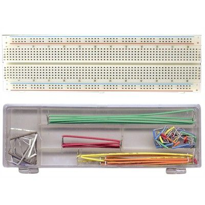 breadboard 830 holes with wiring kit 70 pcs active. Black Bedroom Furniture Sets. Home Design Ideas