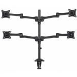 Monitor Desk Mount, Tilt and Turn - Quad Monitor, 27""