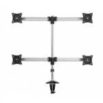 Monitor Desk Mount, Tilt and Turn - Quad Monitor, 35""