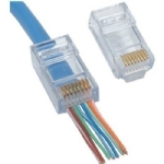 EZ-RJ45 CAT 5/5e Connectors - 50/Pkg
