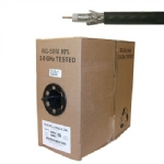 RG59U Coaxial Cable,1000ft roll, Black