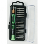 12-in-1 Screwdriver Set..Precision Handle 12 Bits - Flat, Phillips and Star Tip