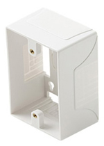 Surface Mount Junction Box 1 Gang White