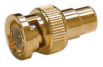 BNC Male To RCA Female Adapter,  Gold, Pkg/10