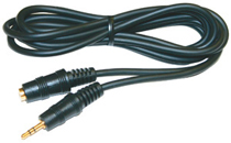 2.5mm Stereo Plug To 2.5mm Jack - Gold, 6Ft Cable