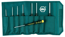"Precision ESD Safe Hex inch Screwdriver 8 Piece Set includes: .050"", 1/16"", 5/64"", 3/32"", 7/64"", 1/8"", 9/64"", 5/32"" in Canvas Pouch"