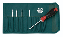Drive-Loc Vi 6 Piece interchangeable Set Slotted 4.0, 6.0, Phillips #1 #2, Torx? T10 X T15, T20 X T25, T30 X T40 in Canvas Pouch