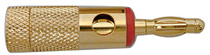 Banana Plugs, Heavy Duty 8AWG - Gold/Red Band, Pkg/10