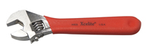 "4"" Chrome Adjustable Wrench with Red Cushion Grip Handle"