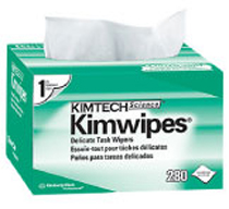 "KIMWIPES DELICATE TASK WIPERS--Single Ply, 196 wipes per box, 11.8"" x 11.8"""